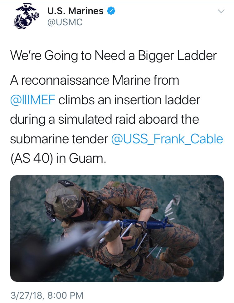 #USMC vs #StormyDaniels. Marines Bringin' the Bantz.