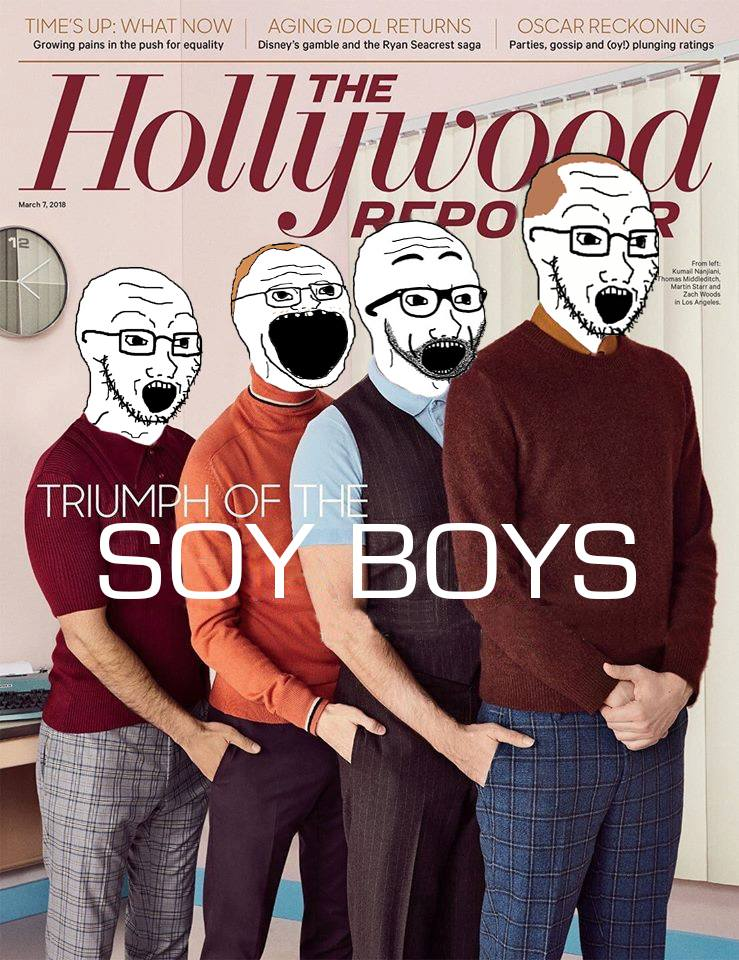The Memes are Writing Themselves. #HollywoodReporter #SiliconValley #SoyBoys #Estronauts #Soysapiens #TapwaterGoblins