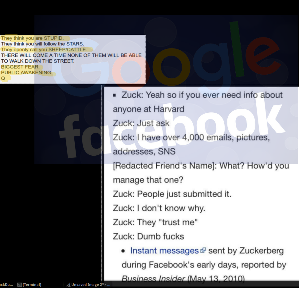 """They openly call you SHEEP/CATTLE"" – #QAnon #DeleteFacebook"