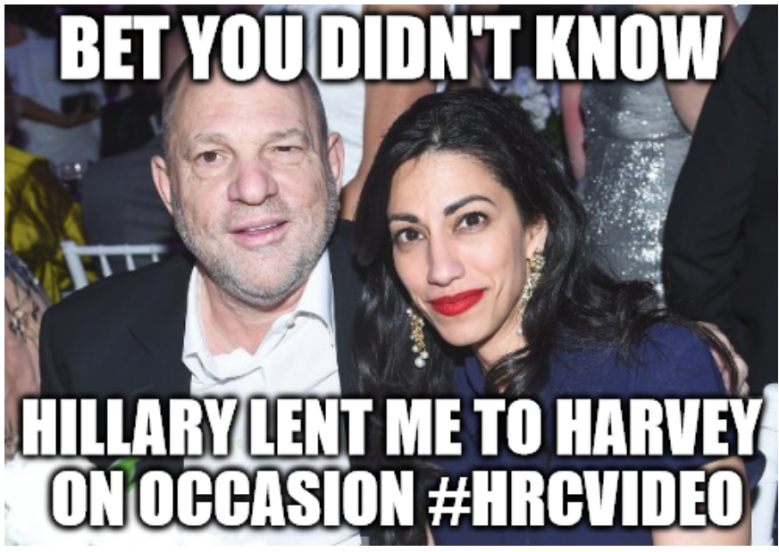 Huma and Harvey! A Match Made in HELL! #QAnon #MeToo #HRCVIDEO #GreatAwakening #RELEASETHEVIDEO