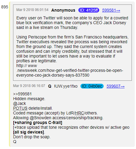 #QAnon and the #BlackCheckmark. #Soros Divesting from Social Media. Bye @Jack!