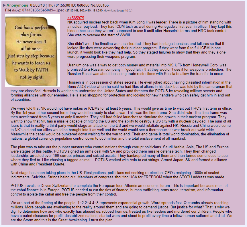 #Anon Helps Explain #NorthKorea's History. #Obama and #HRC Setting the Stage for #WWIII. Trump Broke #TheCabal. #UraniumOne