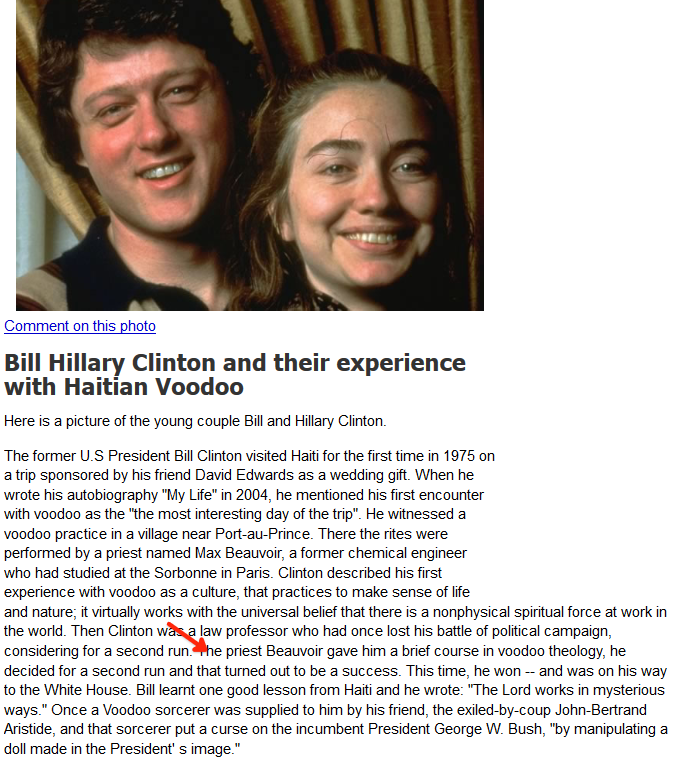 The #Clintons and their History with #Voodoo.  THEY GO AFTER TWINS!!! #Haiti #ChildTrafficking #RitualSatanicAbuse #QAnon