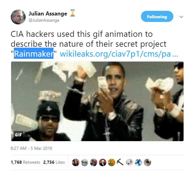 Did you Catch it? #Rainmaker #QAnon #Qconfirmations
