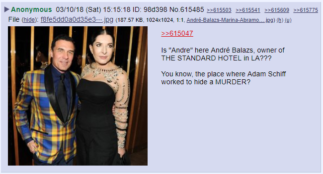 New Details Emerge about Marina Abramovic, #SpiritCooking, #TheStandardHotel, #Wikileaks, and #QAnon. #FollowTheWhiteRabbit