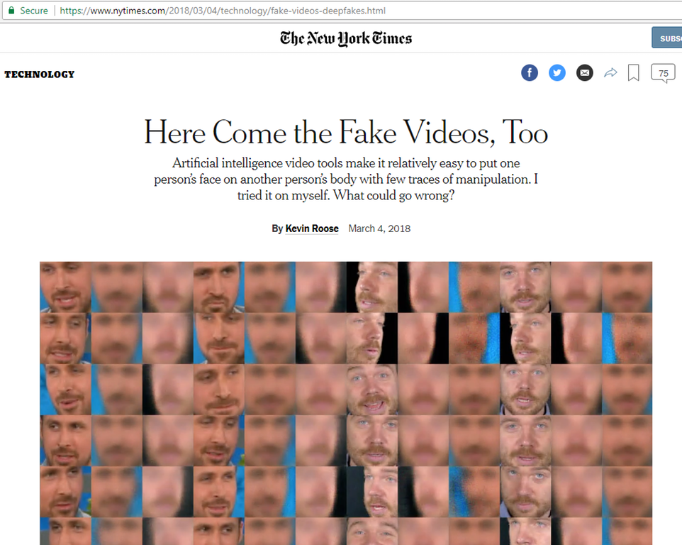 Why is the #FakeNews Suddenly talking about Fake Videos? It's Almost like they're trying to Prepare for Something… 🤔🤔🤔🤔 #QAnon