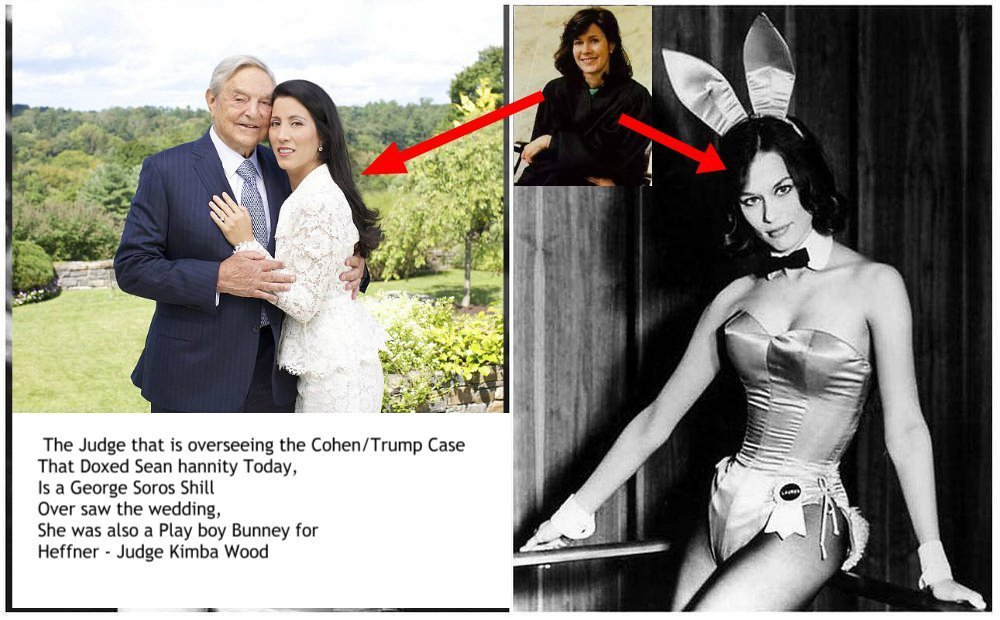 Meet Kimba Wood, Former Playboy Bunny and Soros/HRC Favorite! OVERSEEING THE MICHAEL COHEN CASE! Welcome to #MatriarchalSatanism. #FemiNazis #QAnon #GreatAwakening