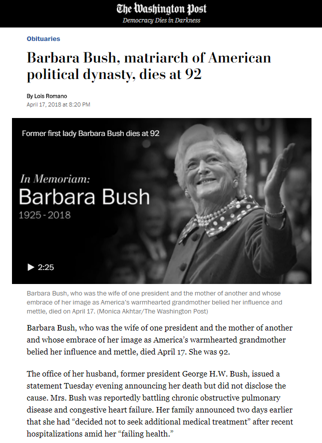 #SpiritCooking, Barbara Bush, and the Birth of a #MoonChild. #MatriarchalSatanism at work. #Pizzagate