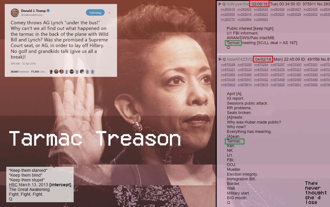 Treason on the Tarmac! #QAnon #GreatAwakening #LorettaLynch #TarmacMeeting