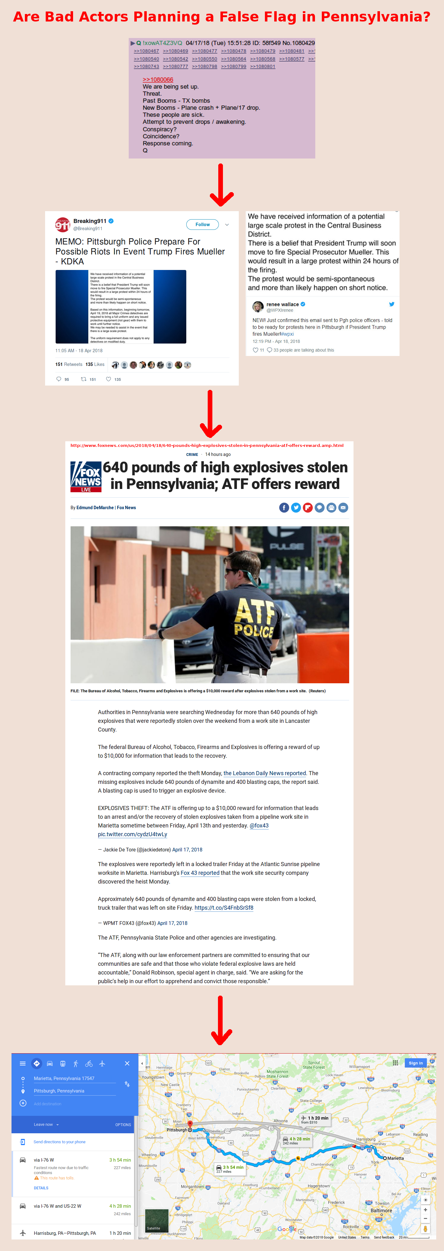 """We Are Being Set Up."" Stay Safe and Aware, Pennsylvania Friends – #FalseFlag #QAnon"
