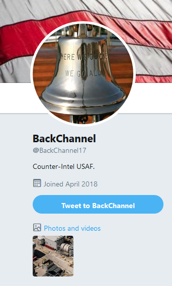 Disregard @BackChannel17. #Clown Disinfo Operation Queen. #PsyOps #QAnon