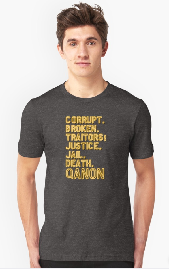"""Tribunals!"" New #QAnon T-shirt by NEON REVOLT"