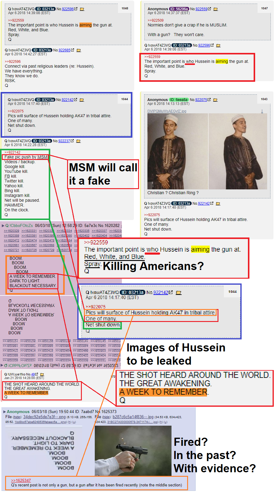 "The ""Smoking Gun?"" #Hussein #QAnon #NoCoincidences"