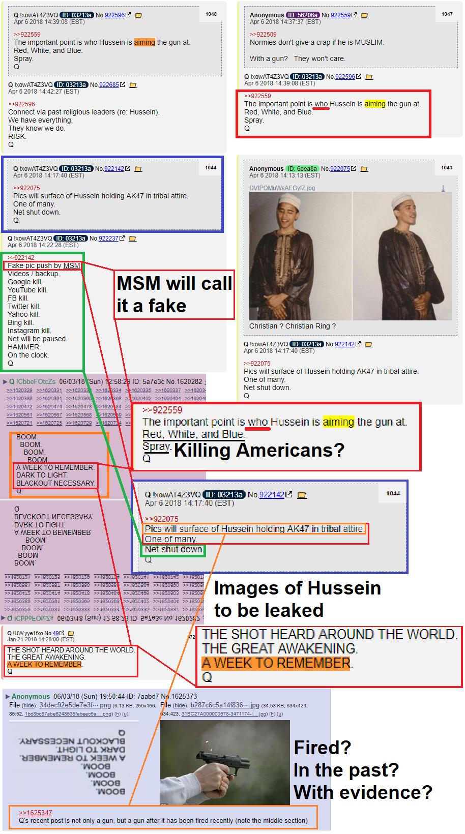 """The """"Smoking Gun?"""" #Hussein #QAnon #NoCoincidences"""