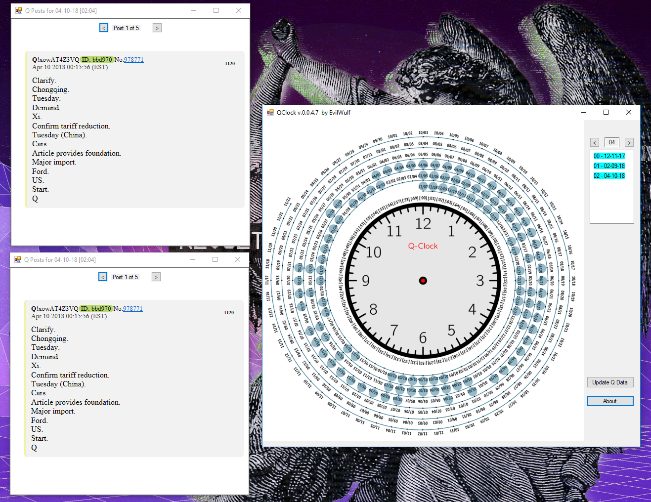 ANNOUNCEMENT:  Presenting a Downloadable, Interactive #QCLOCK by @EvilWulf. #QAnon #GreatAwakening