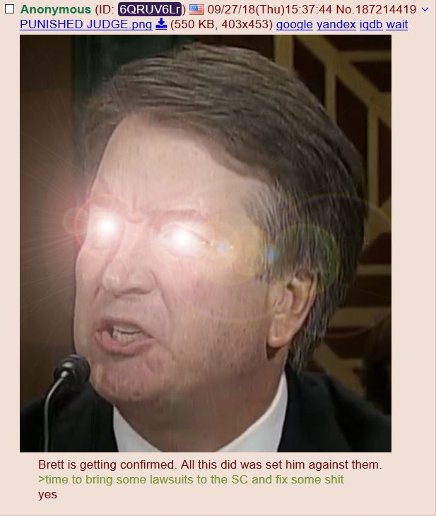 The Existential Threat of #JUSTICEKAVANAUGH and the Inflection Point for the #GOP and America. #NewQ #QAnon #SupremeCourt #SCOTUS #MAGA #KavanaughConfirmation  #NEONREVOLT